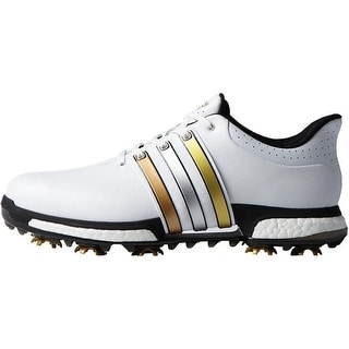 Adidas Men's Tour 360 Boost FTWR White/Gold Metallic/Core Black Golf Shoes F33483