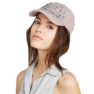 August Hat Company Ladies Pink Mauve Bejewled Baseball Cap One Size