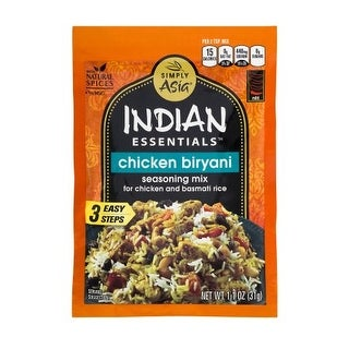 Simply Asia Indian Essentials Seasoning Mix - Chicken Biryani - Case of 12 - 1.1 oz.