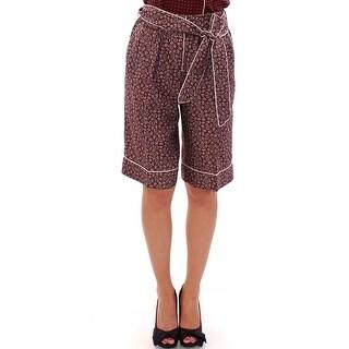 Dolce & Gabbana Dolce & Gabbana Red PAJAMA silk shorts