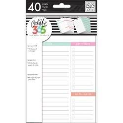 White Daily - Create 365 Mini Planner Fill Paper