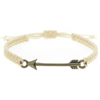 Arrow Link Macrame Bracelet (Ivory & Brnz) - Exclusive Beadaholique Jewelry Kit