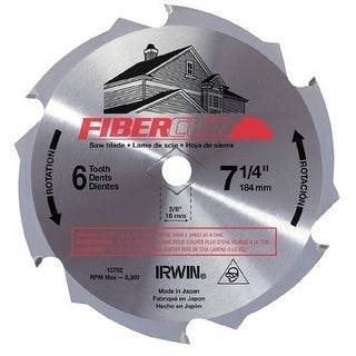 "Irwin 15702 Fibercut Circular Saw Blade, 7-1/4"", 6 Teeth"