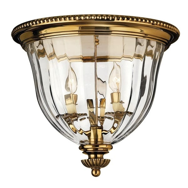 Hinkley Lighting H3612 3 Light Indoor Flush Mount Ceiling Fixture from the Cambridge Collection