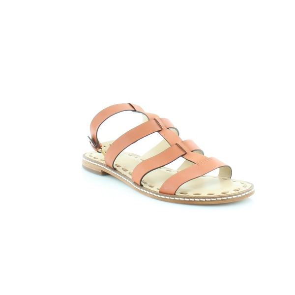 MICHAEL by Michael Kors Fallon Flat Women's Sandals & Flip Flops Orange/Acorn - 7