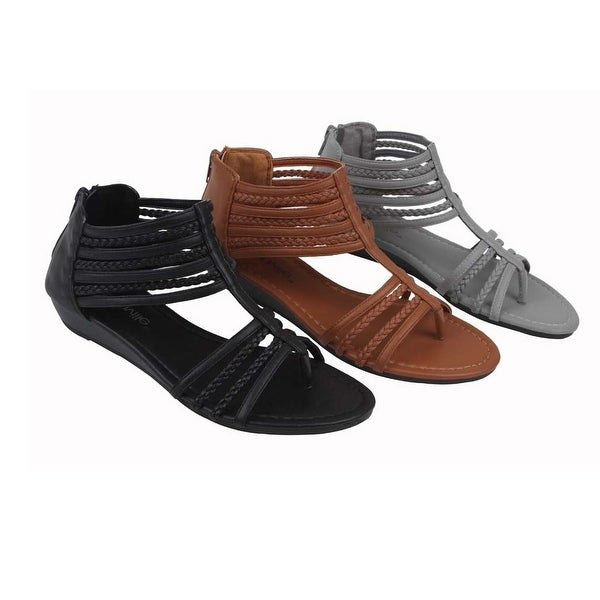 Treat For Feet Open Toe Gladiator Sandals. Opens flyout.