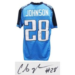 Chris Johnson Blue Custom Football Jersey