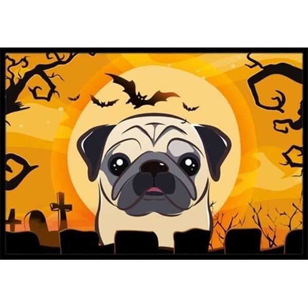 Carolines Treasures BB1820JMAT Halloween Fawn Pug Indoor & Outdoor Mat 24 x 36 in.
