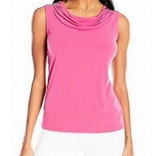 Nine West NEW Pink Women's Size XL Draped Neck Studded Tank Cami Top