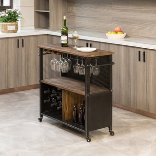 Link to FirsTime & Co.® Chandler Farmhouse Kitchen Cart, Wood, 31.5 x 12 x 31.5 in, American Designed - 31.5 x 12 x 31.5 in Similar Items in Glasses & Barware