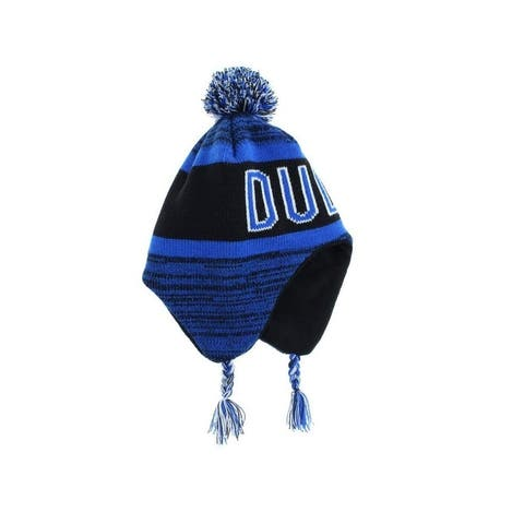 Capelli Little Boy's Black Blue One Size 2 PIece Hat Beanie Gloves Pom-Pom 604