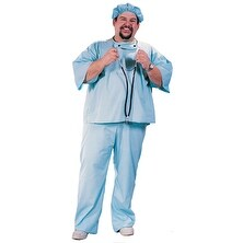 Doctor in Scrubs Plus Size Halloween Costume - big & tall