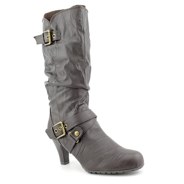 G By Guess Trinnie Women Round Toe Synthetic Brown Mid Calf Boot