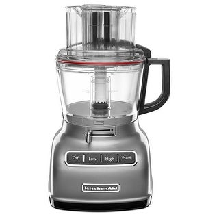 KitchenAid 9 Cup Food Processor with Exact Slice System, Contour Silver
