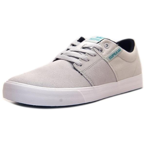 Supra Stacks Vulc II Men Round Toe Suede Gray Sneakers