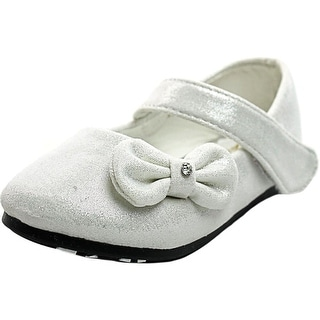 Serena C Angel-5 Infant Round Toe Suede White Mary Janes