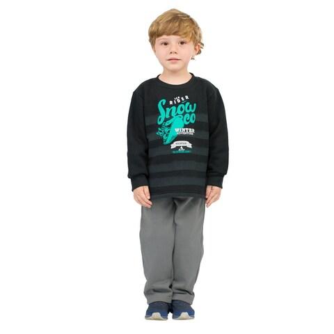 Pulla Bulla Toddler Boy Outfit Sweatshirt and Sweatpants Set