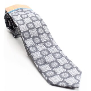 Original Penguin NEW Black Geometric Laven Motif Mens Wool Blend Necktie
