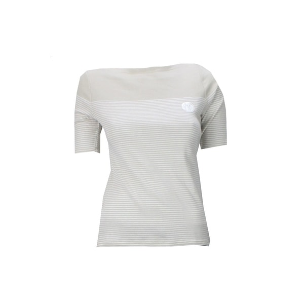 7f140a4b314f4 Shop Charter Club Petite Beige Elbow-Sleeve Striped Boatneck Tee PP - Free  Shipping On Orders Over  45 - Overstock - 24178046