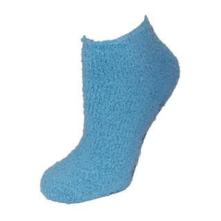 CTM® Women's Low Cut Non Slip Slipper Socks (3 Pair Pack) (Option: Light Blue)