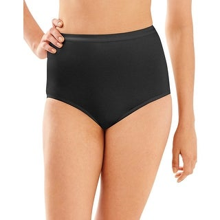 Bali Full-Cut-Fit Stretch Cotton Brief - Size - 7 - Color - Black