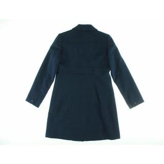 Jones New York Womens Wool Blend Textured Pea Coat