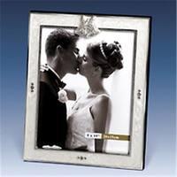 Godinger 8 in. x 10 in. Wedding Frame- White Epoxy