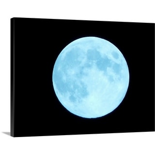 Premium Thick-Wrap Canvas entitled Blue Moon
