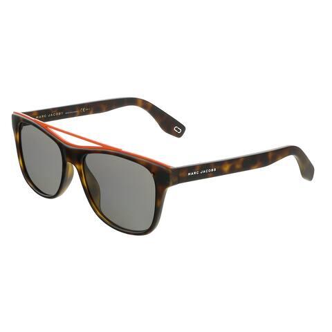 Marc Jacobs MARC303S 0N9P Matte Havana Rectangle Sunglasses - 54-17-145