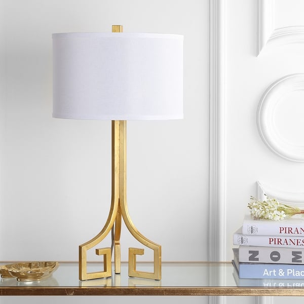 Safavieh Lighting 27 Inch Arabelle Hardback Gold Table Lamp Set Of 2 14 X14 X27 5 Overstock 12738486