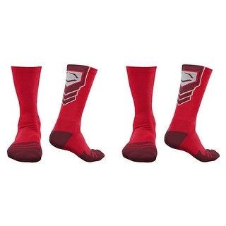 EvoShield Performance Crew Socks (Red / Large / 2 Pair)