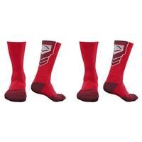 EvoShield Performance Crew Socks (Red / Medium / 2 Pair)
