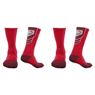 EvoShield Performance Crew Socks (Red / Small / 2 Pair)