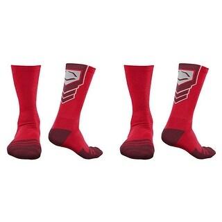 EvoShield Performance Crew Socks (Red / X-Large / 2 Pair)