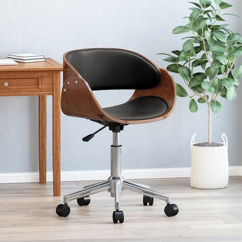 Brinson Indoor Upholstered Swivel Office Chair by Christopher Knight Home