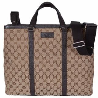 Gucci 449169 Beige Canvas Gg Guccissima Borsa Donna Large Crossbody Tote Bag 15 75
