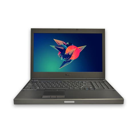 "Dell M4800 Quad Core i7 Laptop 15"" 8GB RAM 256GB SSD Windows 10 Pro Grade B"