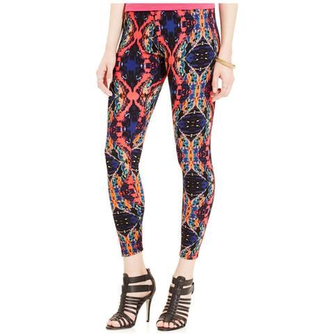 Material Girl Womens Printed Casual Leggings, Pink, X-Small