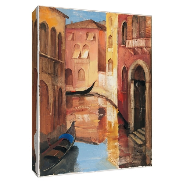 """PTM Images 9-154821 PTM Canvas Collection 10"""" x 8"""" - """"Morning on the Canal II"""" Giclee Streams & Rivers Art Print on Canvas"""