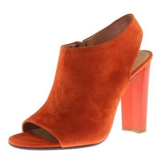 Calvin Klein Womens Kena Suede Dress Heels - 38 medium (b,m)