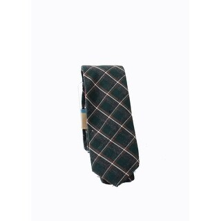 Original Penguin NEW Green Brown One Size Plaid Print Woven Neck Tie