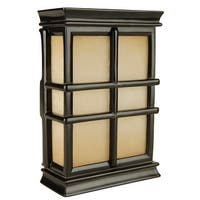 Craftmade CH1505  Hand-Carved Window Pane Cabinet Chime from the Traditional Collection - Black Semi-Gloss