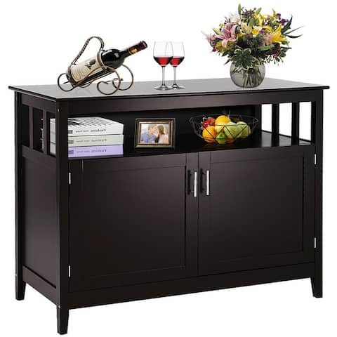 """Costway Modern Kitchen Storage 36"""" Height Cabinet Buffet Server Table - See Details"""