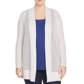 Nic + Zoe Womens Plus Cardigan Sweater Open Collar Long Sleeves