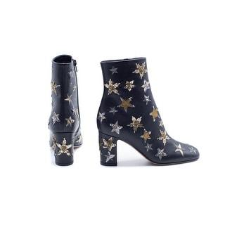 Valentino Garavani Star Embellished Ankle Boots - Black