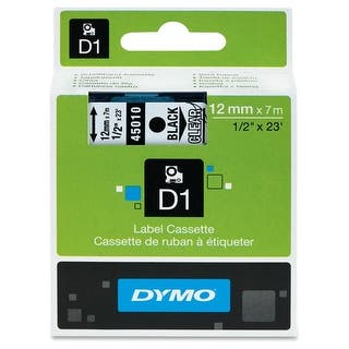 Dymo 45010M LABEL DYMO BLACK PRINT-CLEAR TAPE|https://ak1.ostkcdn.com/images/products/is/images/direct/ea98f643de3f3a28ca7c41ea249d722ab70a9c07/Dymo-45010M-LABEL-DYMO-BLACK-PRINT-CLEAR-TAPE.jpg?impolicy=medium