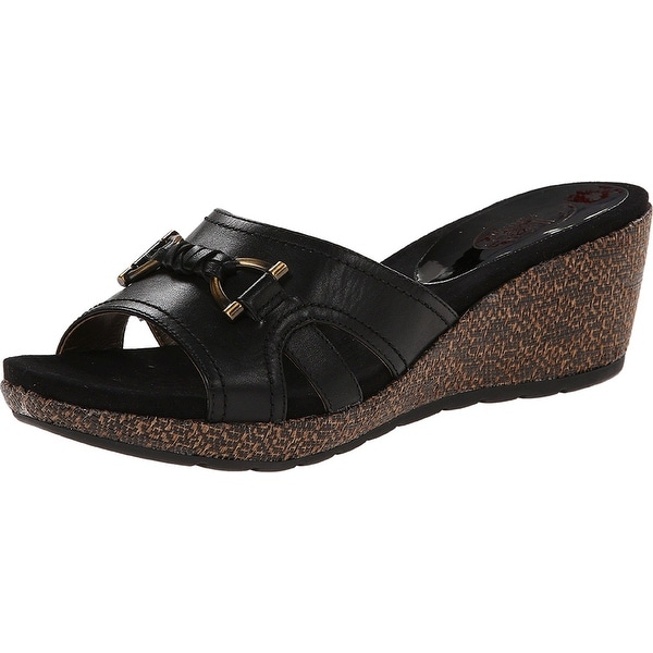 Circa Joan & David Womens Pence Leather Open Toe Casual Platform Sandals