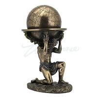 Unicorn Studios  Atlas Carrying the World Greek Sculpture - Bronze