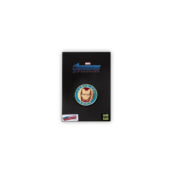 """Marvel Avengers: Endgame Iron Man Exclusive Collector Pin   """"I Love You 3000"""" - Black. Opens flyout."""