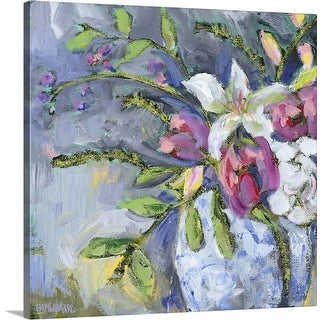 """""""Blue and white vase lavender III"""" Canvas Wall Art"""
